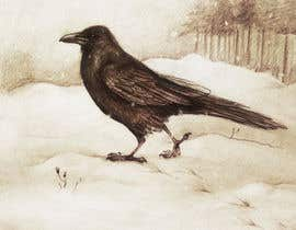 #48 for Illustration of Raven in Snow by marinaChe