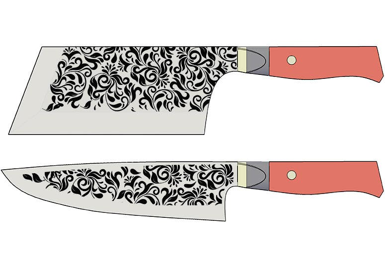 Penyertaan Peraduan #                                        16                                      untuk                                         I need a Grafik Design to etch on my Kickstarter Knife Series