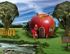 #4 untuk Фотоколлаж или оригинальная картина, обыгрывающая яблоко-домик oleh zigaidavarkuta