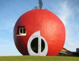 #12 untuk Фотоколлаж или оригинальная картина, обыгрывающая яблоко-домик oleh Tahafor
