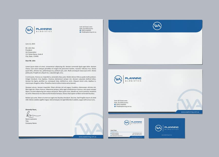Nice Letterheads And Business Cards Crest - Business Card Ideas ...