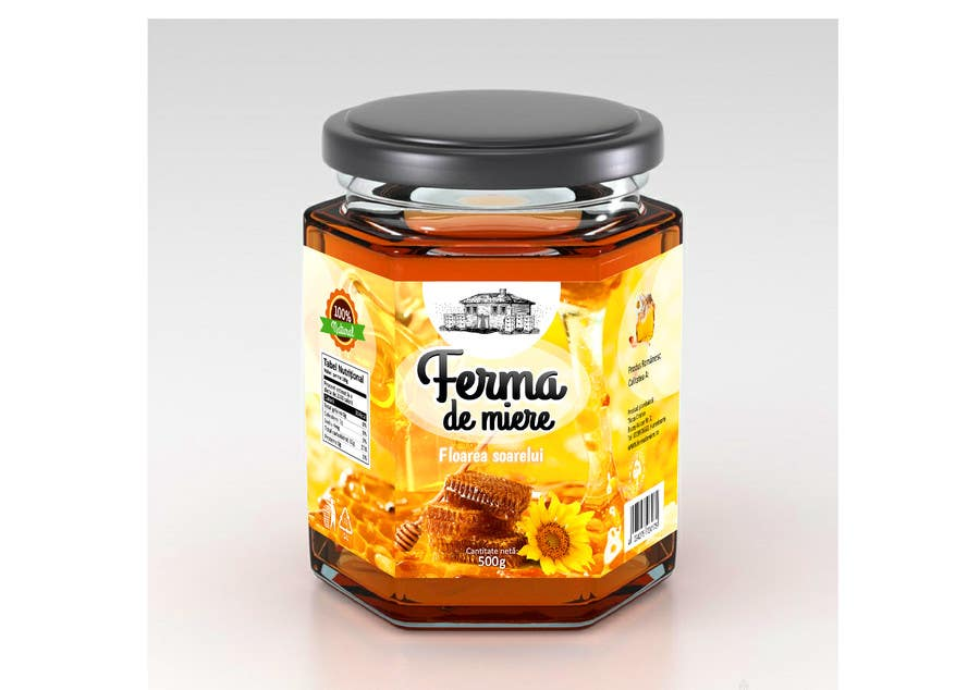 #59 for Label design for Honey Jar (eticheta miere) by catalinorzan