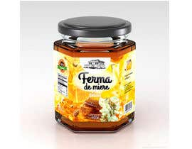 #67 untuk Label design for Honey Jar (eticheta miere) oleh catalinorzan
