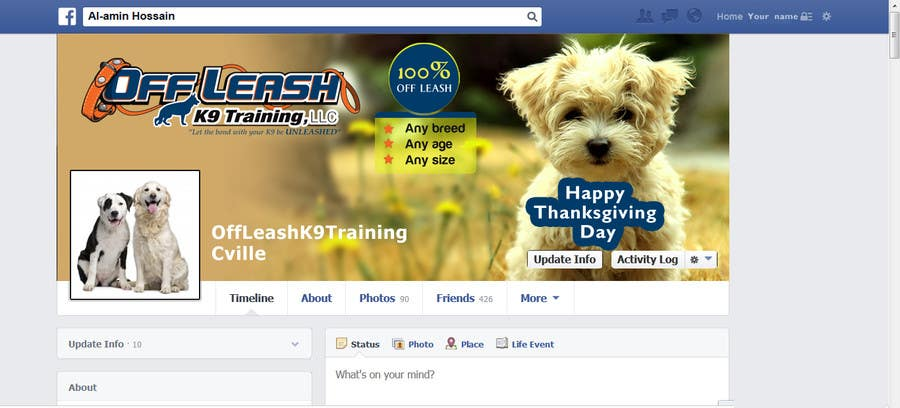 #15 for Thanksgiving Facebook Banner and Profile Pic by mdmonirhosencit