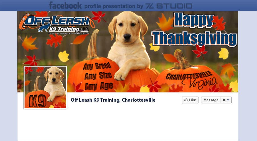 #14 for Thanksgiving Facebook Banner and Profile Pic by Studio7L