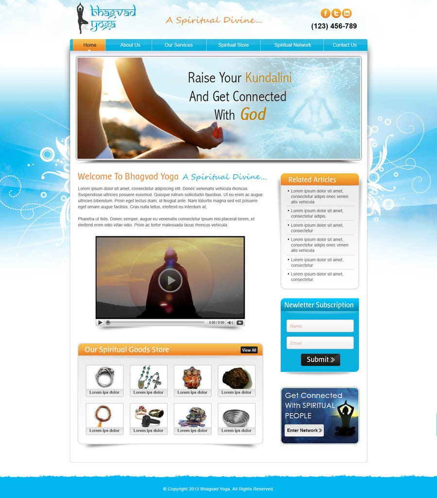 #14 for Design a Website Mockup for Bhagvad Yoga Website by atularora