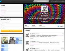 #11 untuk Design a Twitter background for pigdrive.com oleh nsdjr