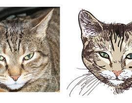 tengkushahril tarafından Make An Illustration (Vector or Hand Drawn) of My Cat için no 4