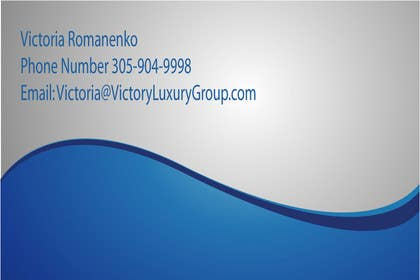 #7 for Design some Business Cards for Victory Luxury Group by Tania1410