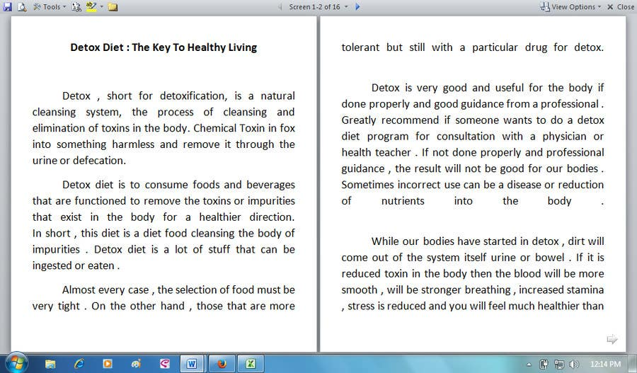 #16 for Write some Articles for Rawfood / Detox by evanuril
