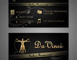 #7 for Design some Business Cards for Italian restaurant af stniavla