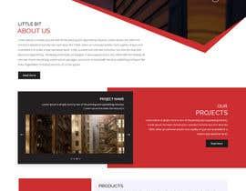 Nro 43 kilpailuun Construction company website käyttäjältä zaxsol