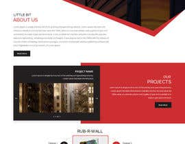 Nro 62 kilpailuun Construction company website käyttäjältä zaxsol