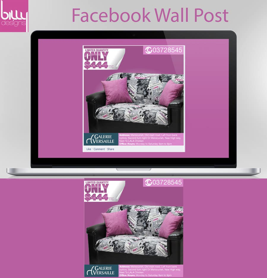 #16 for Design an Advertisement for a facebook post by bilalmohammed