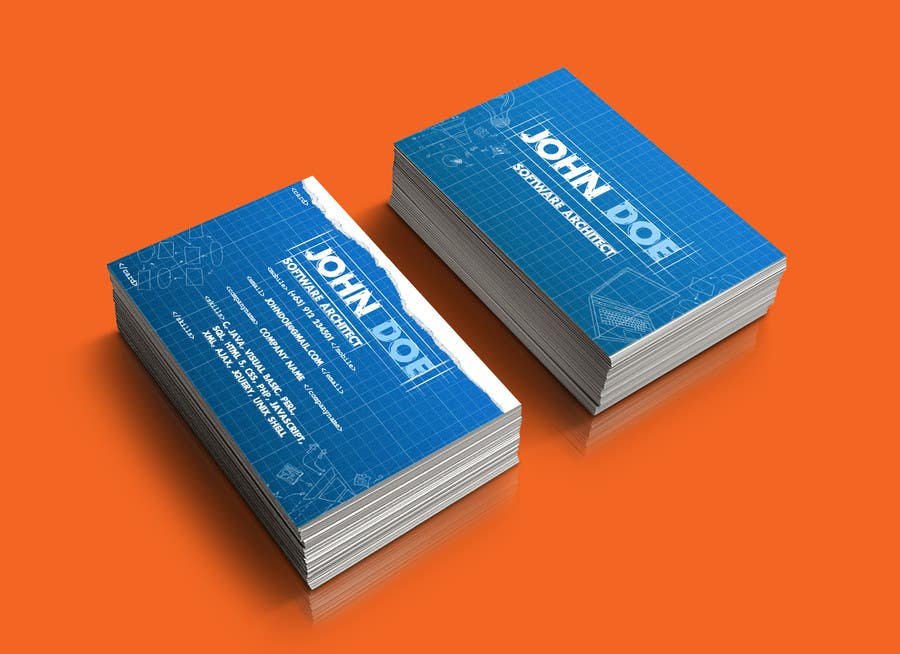Need a business card for a software architect freelancer reheart Images