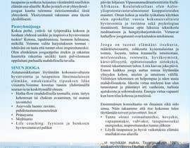 Nro 16 kilpailuun Design a brochure: private yoga teaching käyttäjältä andraakkir