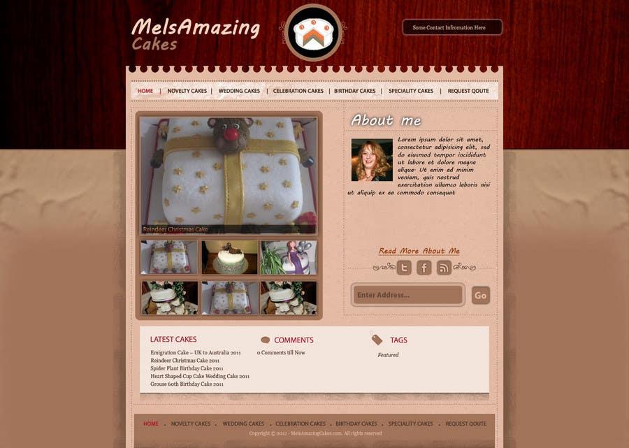 Inscrição nº                                         16                                      do Concurso para                                         Wordpress Theme Design for Melanies Amazing Cakes