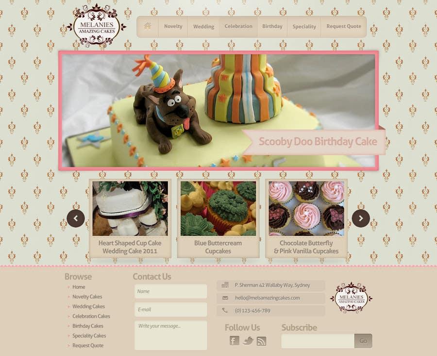 Inscrição nº                                         24                                      do Concurso para                                         Wordpress Theme Design for Melanies Amazing Cakes