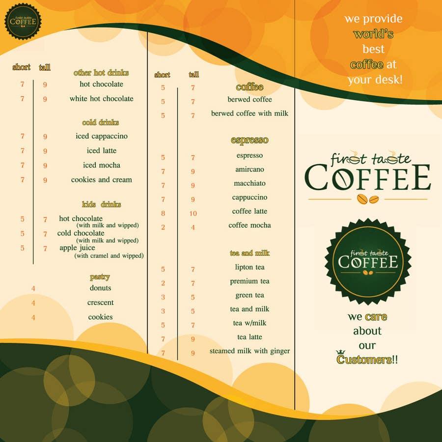 Inscrição nº                                         13                                      do Concurso para                                         Stationery Design for First taste Coffee