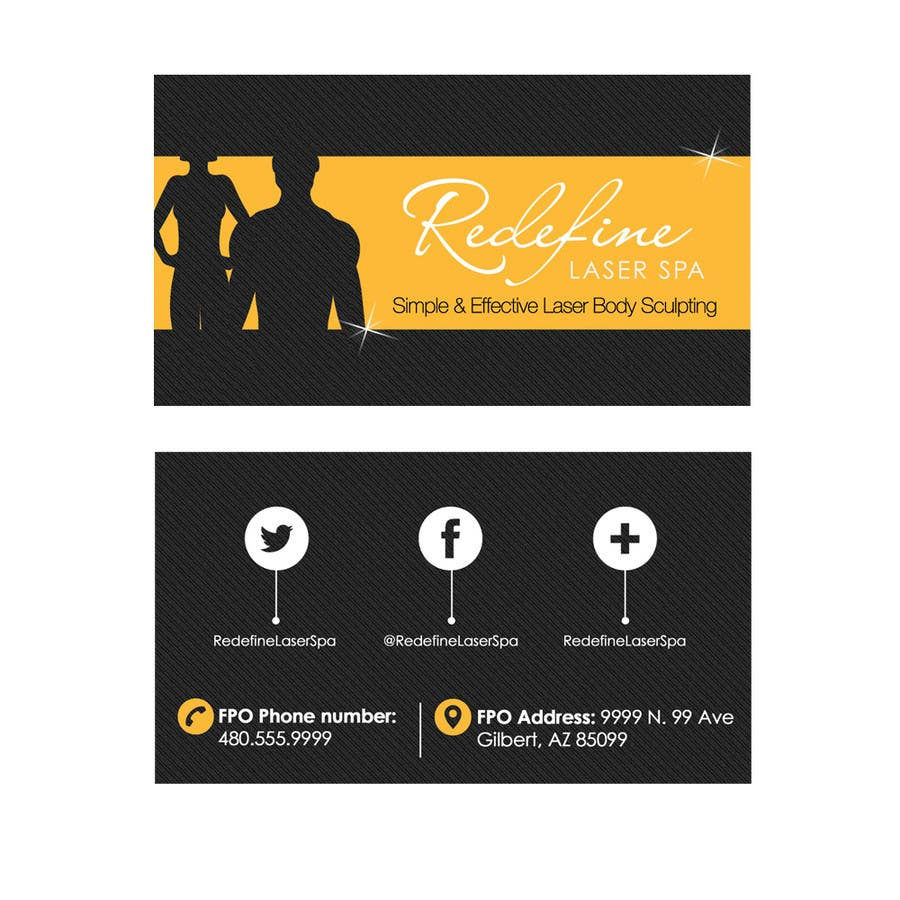 Entry #3 by marcelog4 for Design some Business Cards for a Laser Spa ...