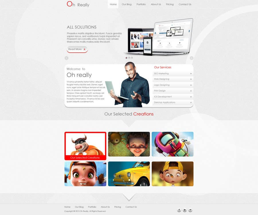 #3 for Design a clean and modern original PSD template by tania06
