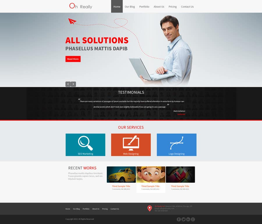 #7 for Design a clean and modern original PSD template by tania06