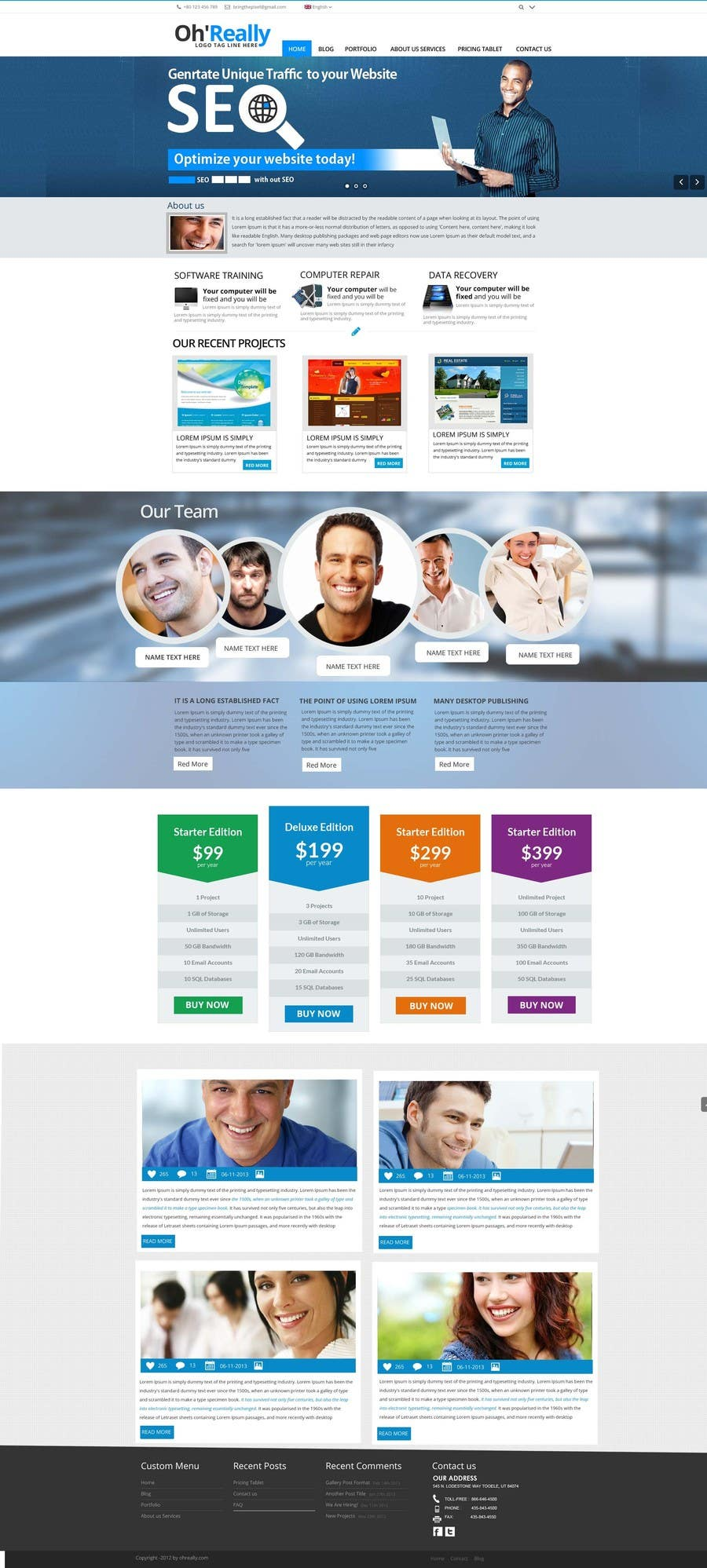 #8 for Design a clean and modern original PSD template by MagicalDesigner