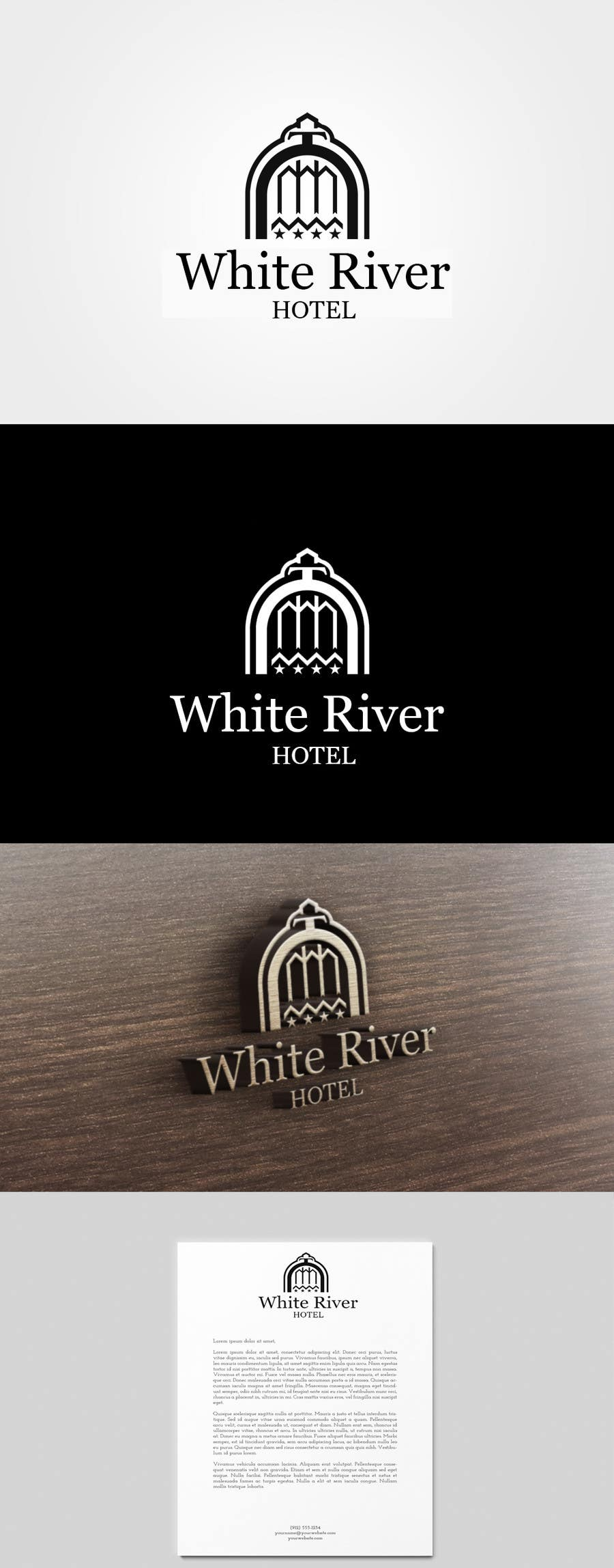 #84 for Design a Logo for White River Hotel. by Deeeniska