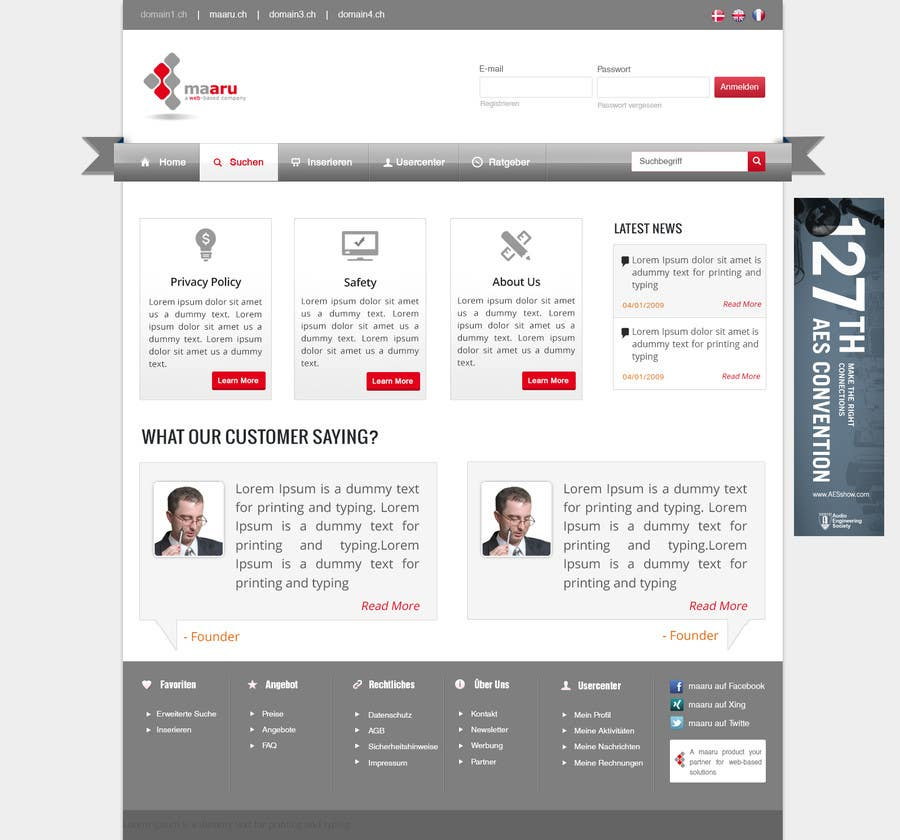 #9 for Create a professional Basic Layout for a new Webpage - CSS & Responsive Design by patrickjjs