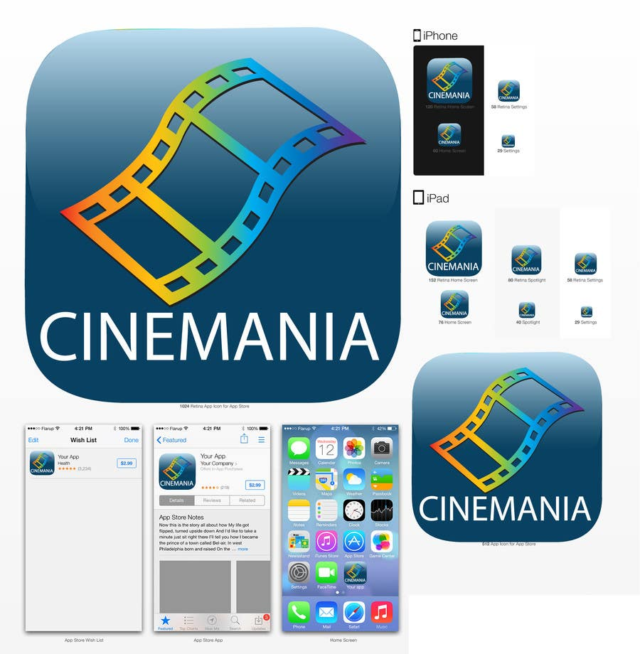 #4 for Design an Icon for iOS Movie quiz game by Ekaterina5
