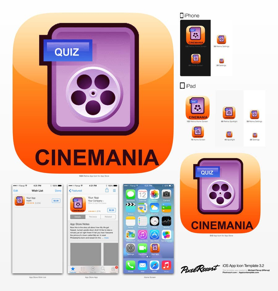 #8 for Design an Icon for iOS Movie quiz game by AuraE