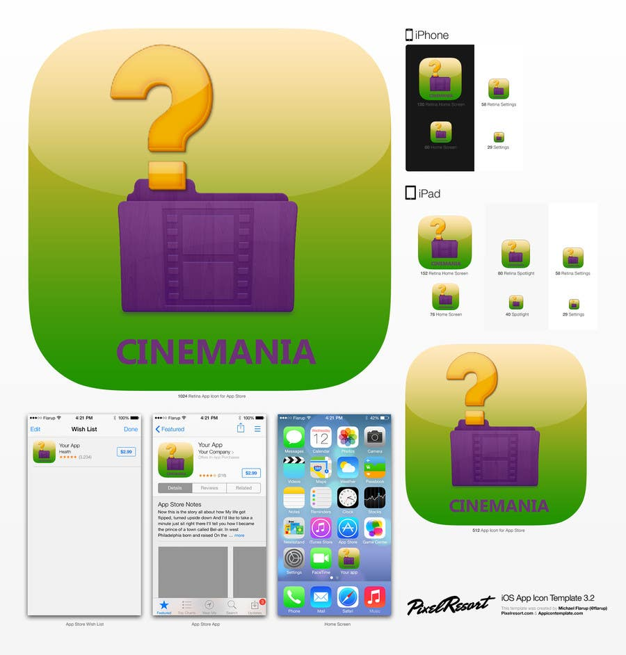 #9 for Design an Icon for iOS Movie quiz game by AuraE