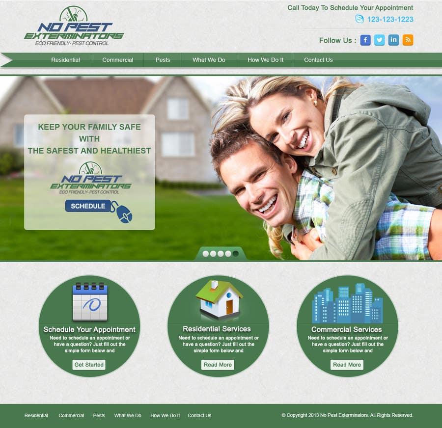 #21 for Build a Website/Splash page for No Pest Exterminators Inc. by sharmaadeepak