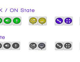 nº 2 pour Design button set for Video Conference Application par vishakhvs