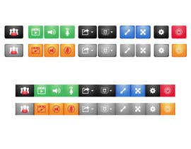 nº 4 pour Design button set for Video Conference Application par daylight29