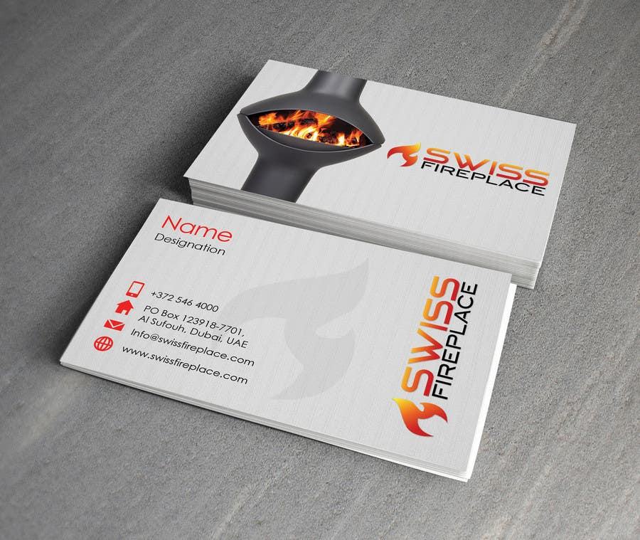Bài tham dự cuộc thi #12 cho Design some Business Cards for our company selling Fireplaces
