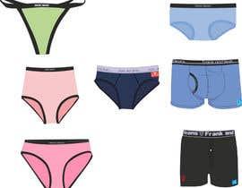Nro 10 kilpailuun Underwear illustrations Cartoon Style käyttäjältä ddas86
