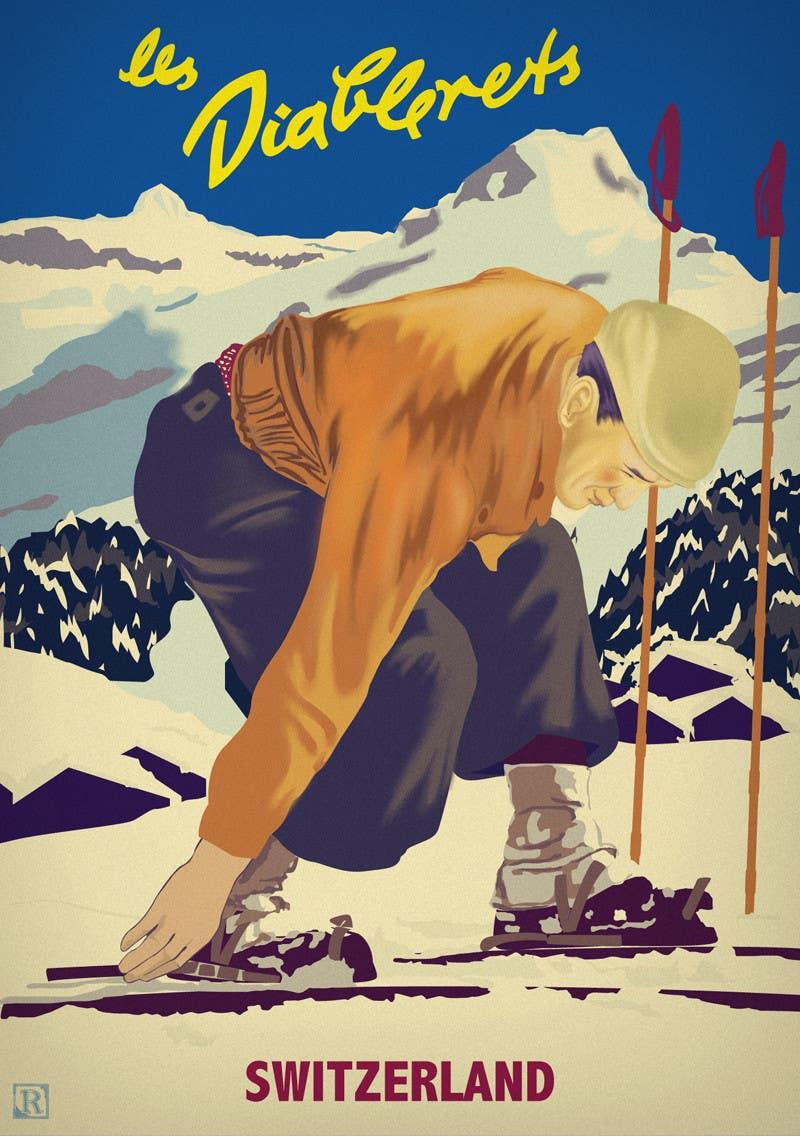 #6 for Rework on vintage poster (Vectorial) by lokmenshi