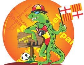 Nro 6 kilpailuun Barcelona Trip Website Logo with a Character Mascot (read carefully my requirements) käyttäjältä esolzsales