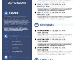 jhosser tarafından Create as many unique Resume templates as you can in a week -- 1 için no 20