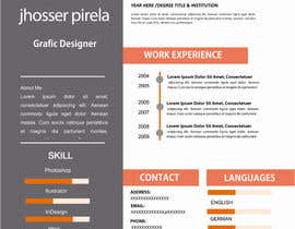 jhosser tarafından Create as many unique Resume templates as you can in a week -- 1 için no 23