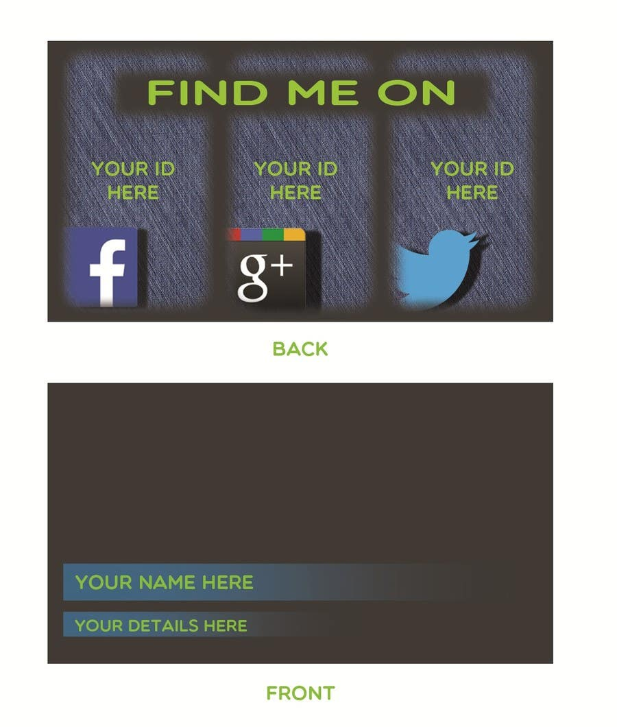 #2 for Design some Business Cards inspired by Social Media by rudyokta53