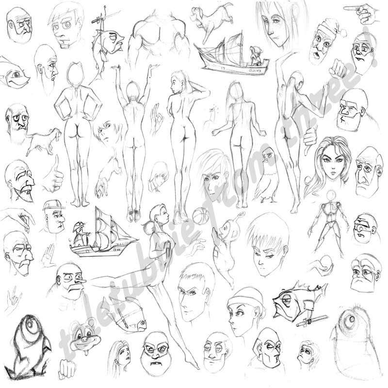 Proposition n°45 du concours Character Pencil Sketches