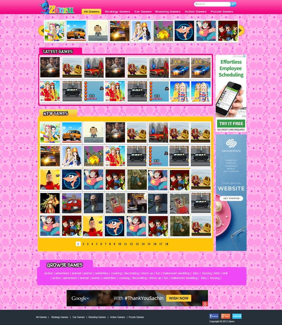 #23 for Design a Mockup for an Online Flash Game Website - Zanru.com by MagicalDesigner
