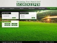 Graphic Design Konkurrenceindlæg #9 for Design a Website Mockup for ScoreKeeper