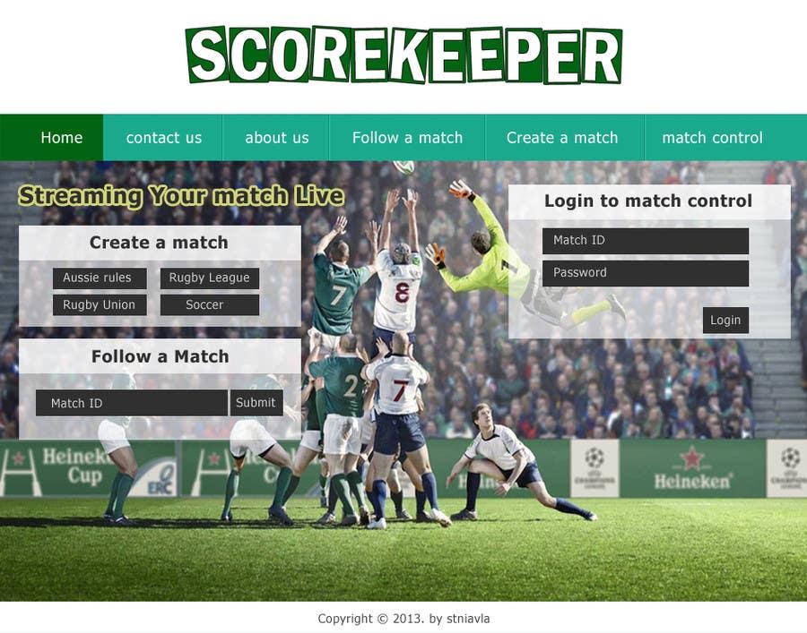 Konkurrenceindlæg #11 for Design a Website Mockup for ScoreKeeper