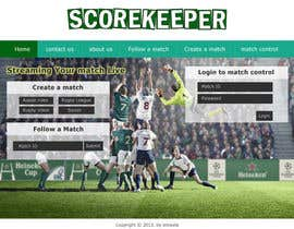 nº 11 pour Design a Website Mockup for ScoreKeeper par deshiconcept