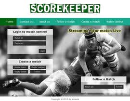 nº 12 pour Design a Website Mockup for ScoreKeeper par deshiconcept