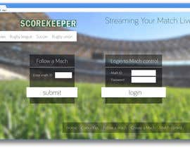 nº 13 pour Design a Website Mockup for ScoreKeeper par AndyBag