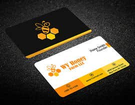 Nro 26 kilpailuun I need a busines card designed around or with our company logo.  We have a local bee business. käyttäjältä Warna86